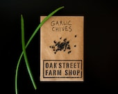GARLIC CHIVES - perennial herb and flower seeds in an eco-friendly handmade recycled paper envelope