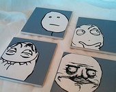 Custom Reddit Rage Face Coasters