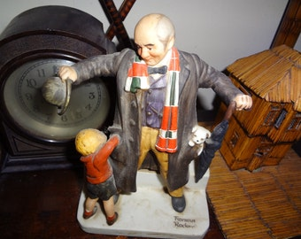 Charming Normal Rockwell bisque grandpa figurine...SALE NOW 50.00..