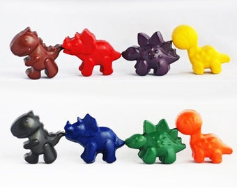 Dinosaur Crayons - Dinosaur Party  - Birthday Gift - Colouring - Dino Party - Party Favour - Dinosaur Birthday - Dino Gift