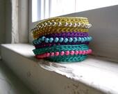 Single Wrap Beaded Bracelets - Set of 3