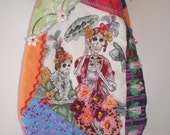 Day of the Dead Crazy Quilted Purse