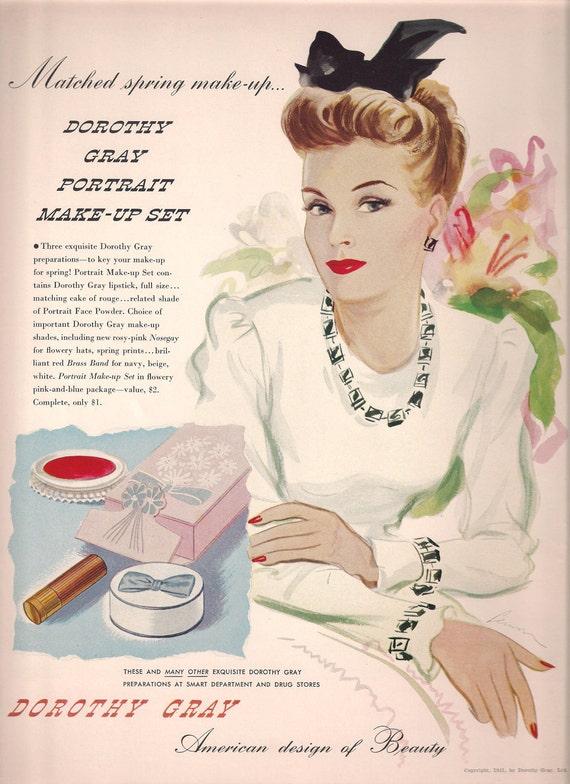 original 1941 color vintage vogue fashion magazine