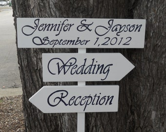 Custom Made Wedding Staked Signs Set Of 3