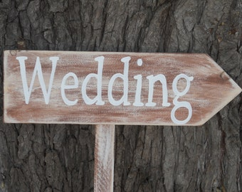 Reclaimed inspired WEDDING Staked Sign