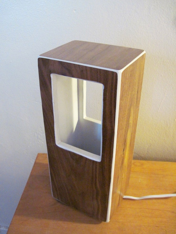 Walnut table lamp