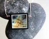 """18"""" handcrafted Labradorite and sterling silver Valantine's day genuine necklace."""