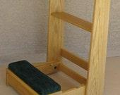 Prayer Desk w/ Light Weight Open Frame and Fold Up Kneeler Deck