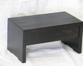 Wooden Step Stool, Designer Inspired, Espresso Finished,