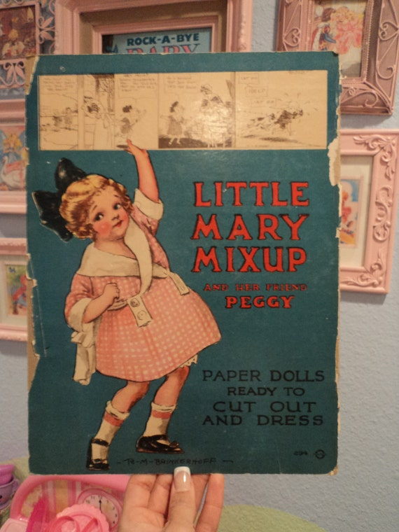 Vintage Paper Doll Book Cover To Be Framed