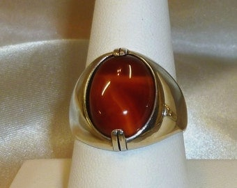 Sterling Silver, Handmade, Handcrafted, Agate Ring