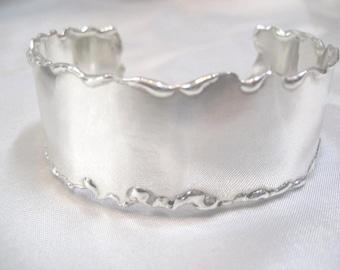 Pure, Silver, Cuff, Bracelet, Small