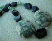 Dark Green Asian Rhapsodie Necklace - FREE SHIPPING Dec2011