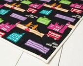 Travel Playmat Bag Box - London Scene, Echino Nico by Etsuko Furuya