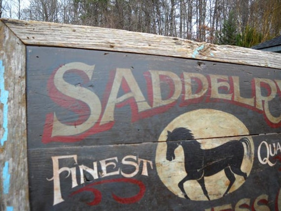 Horse Sign Horse Saddle Harness Sign