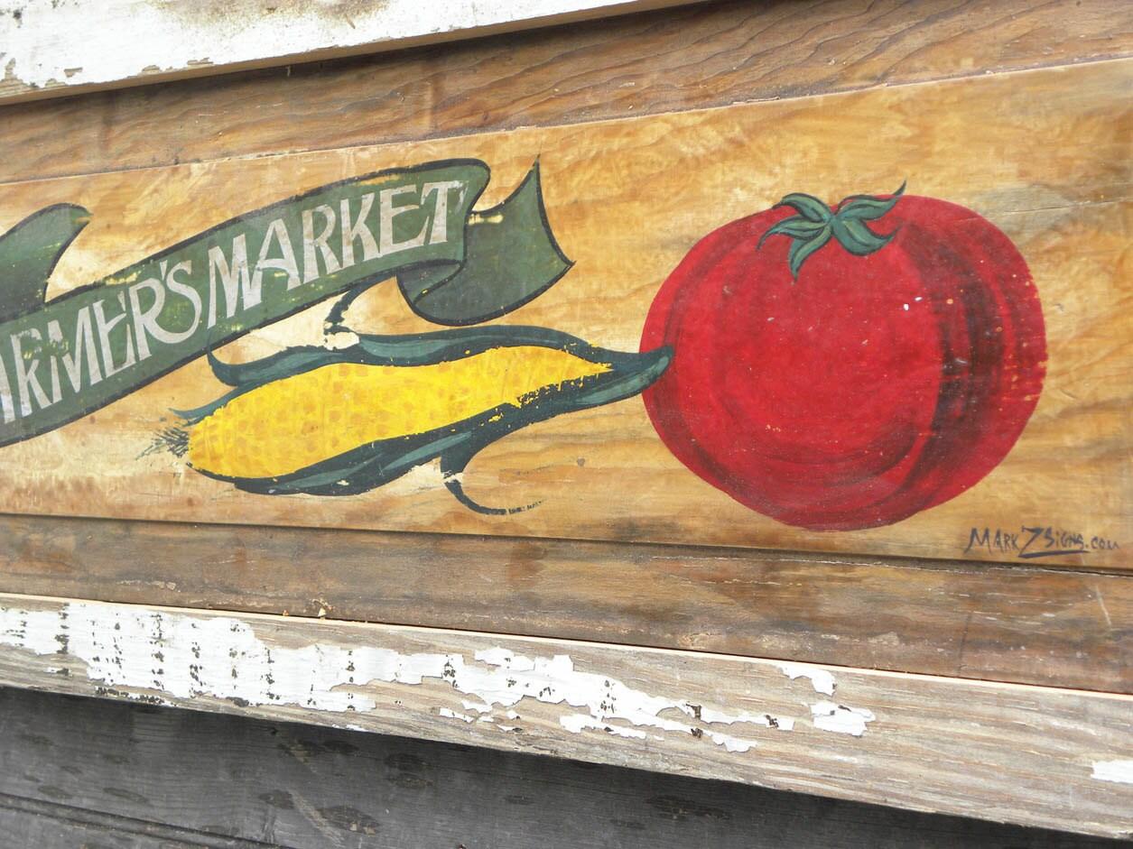 Vintage Farmers Market Sign Farmers Market vintage...