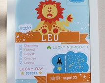 Leo Baby Zodiac Print