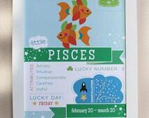 Pisces Baby Zodiac Print