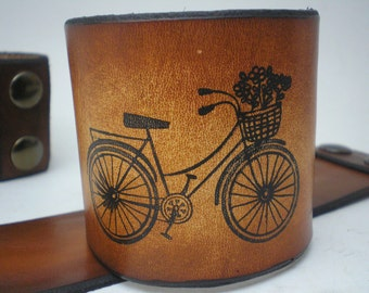 Vintage Leather Bicycle Cuff