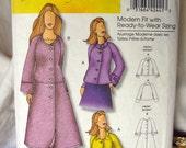 Butterick B5262 - raglan jacket coat - by Connie Crawford -plus size- (sizes xxl 1x 2x 3x 4x 5x 6x) NEW, UNCUT pattern