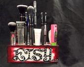 Handmade Wooden Makeup Brush Holder & Bathroom Organizer - ETSY Block