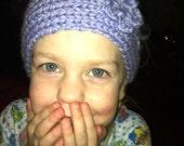 "Multicolored Knit Little Girl ""Ella"" Headband with Crochet Flower"