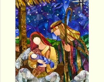 "Matted ""One Silent Night"" Giclee reproduction of original watercolor painting fits 11""x14"" frame"