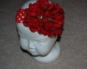 Red Hydrangia Headband