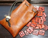 Hand Made Leather Rune Set