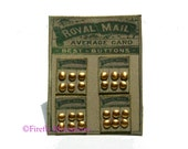 Royal Mail Button Display (Gold)