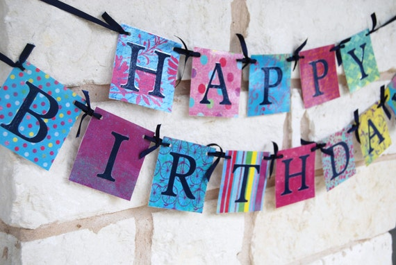 Birthday Banner Decoration HAPPY BIRTHDAY for Birthday Party or photo shoot (Any Age)