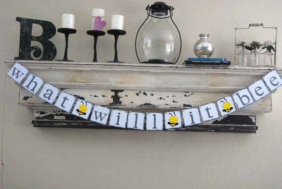Baby Shower Banner Decoration - Gender Neutral - Bee Themed