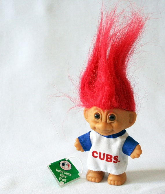 Chicago Cubs 1991 Good Luck Troll Doll by Russ