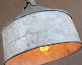 Reserved for Nicole- Sourdough Farm Funnel, Upcycled Lighting with Edison Bulb