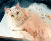 Oliver - print of an original watercolor