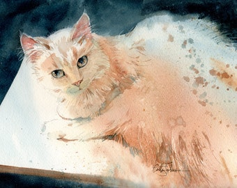 Oliver - print of an original watercolor