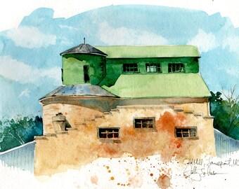Old Mill, Jamesport - print of an original watercolor