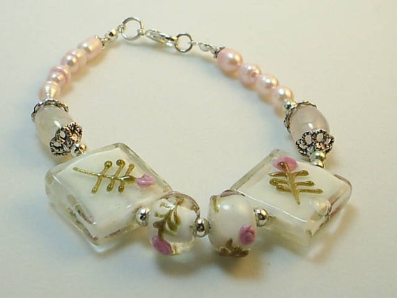 Rose Quartz  and Freshwater Pearls Pink Metaphysical Love