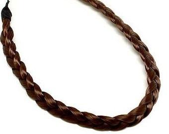 Brown Braided Synthetic Hair Headband