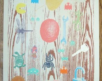 Fishbowl Trinket collection 1 -Screenprint art - 13 colors
