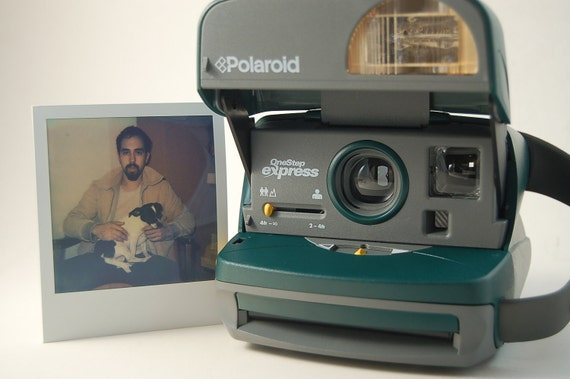 TESTED Polaroid 600 Jade Green One Step Express Instant Photo Camera