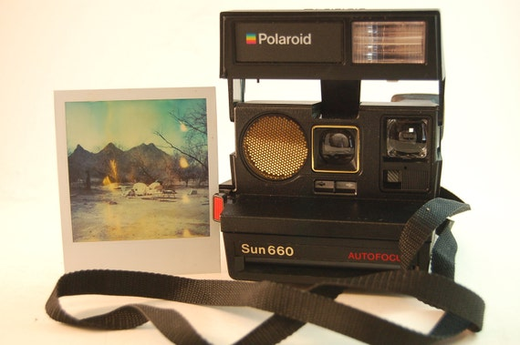 TESTED Polaroid Sun 660 Instant Photo Camera Land Camera