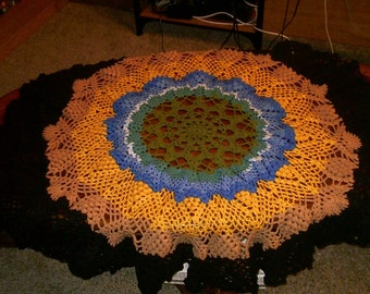 Large Pineapple Doily or Tablecloth