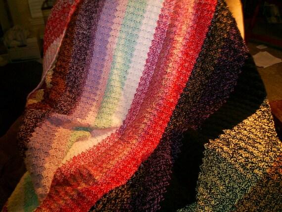 Basketweave Multi Color Afghan