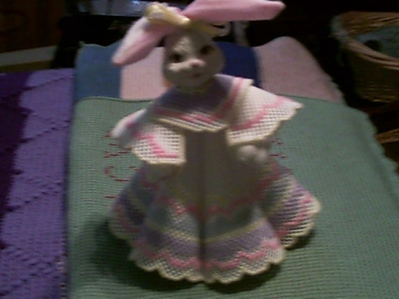 Easter Bunny in Plastic Canvas