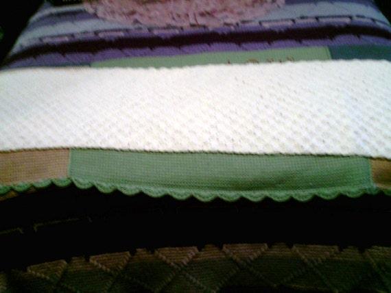 Basket Weave Table Runner Pattern : White basketweave table runner