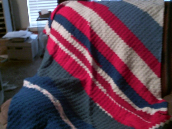 Red, White and Blue Afghan