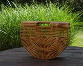 Reserved for Crystal Vintage Natural Bamboo Tote