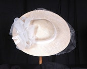 Vintage Sonni San Francisco Cream Straw Hat