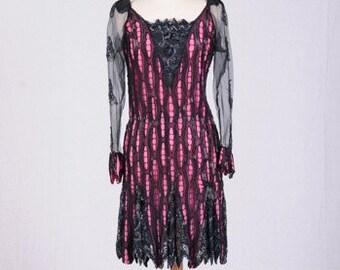 Vintage 1980'S Sister Max Beaded Silk Dress